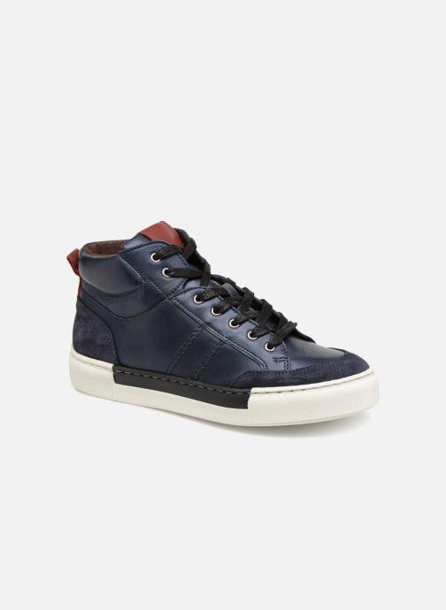 Baskets I Love Shoes Solido Leather Bleu vue détail/paire