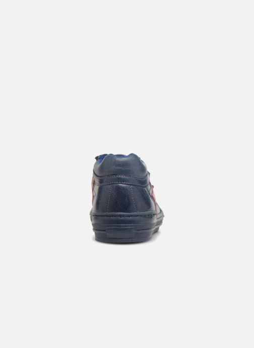 Deportivas I Love Shoes Solibam Leather Azul vista lateral derecha