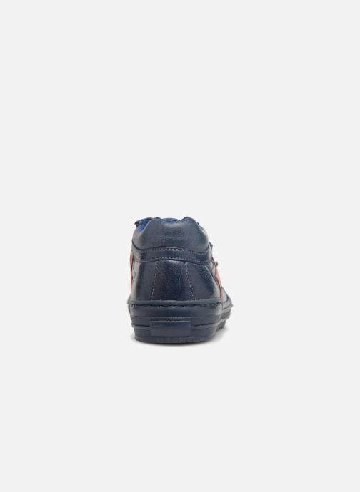 Baskets I Love Shoes Solibam Leather Bleu vue droite