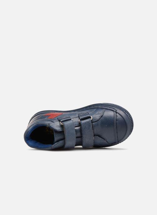 Deportivas I Love Shoes Solibam Leather Azul vista lateral izquierda