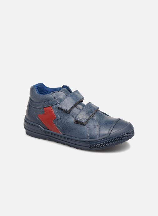 Baskets I Love Shoes Solibam Leather Bleu vue détail/paire