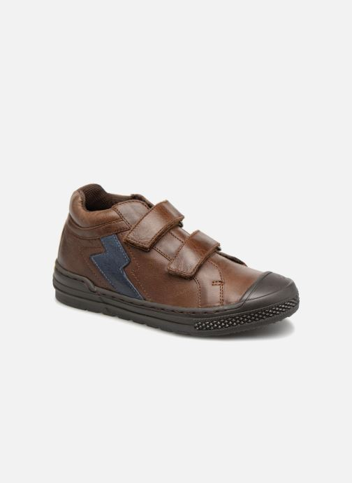 Trainers I Love Shoes Solibam Leather Brown detailed view/ Pair view