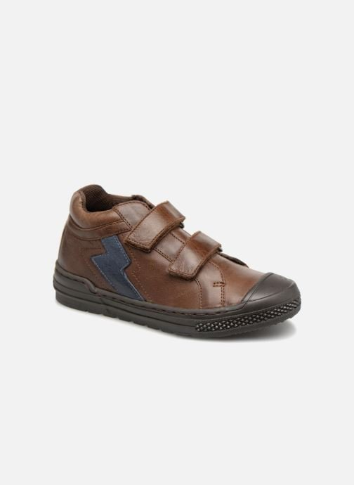 Baskets I Love Shoes Solibam Leather Marron vue détail/paire