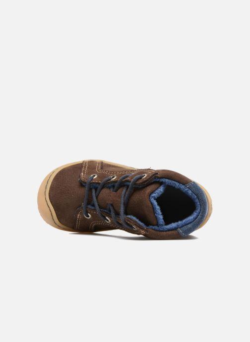 Chaussures à lacets Pepino Georgie Marron vue gauche