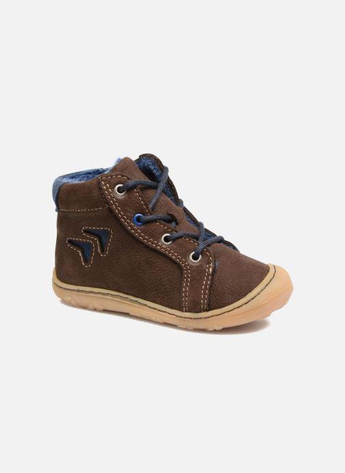 Chaussures à lacets Pepino Georgie Marron vue détail/paire