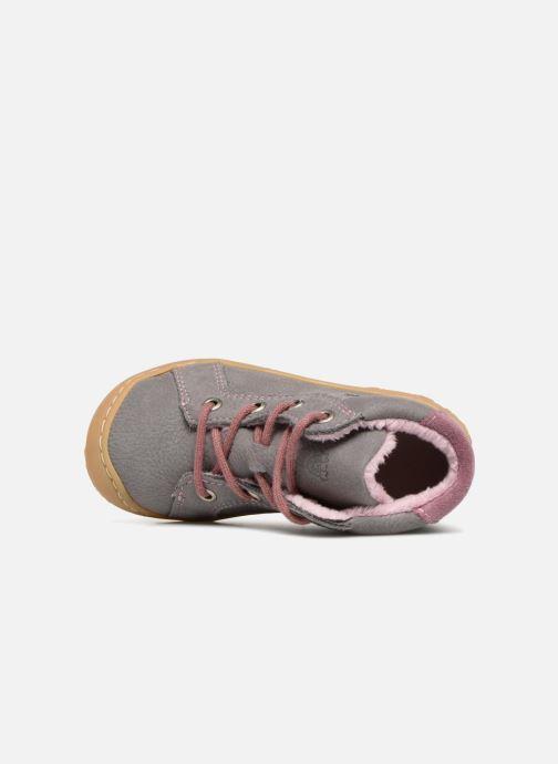 Zapatos con cordones Pepino Georgie Gris vista lateral izquierda