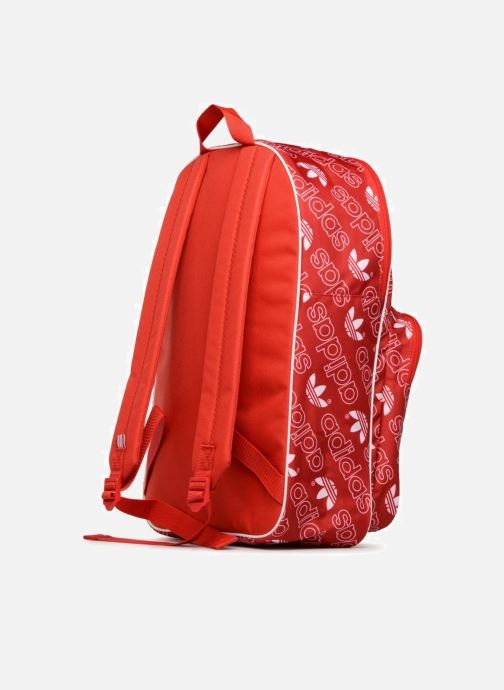 Rucksacks adidas originals BP CLASS AC GR Red view from the right