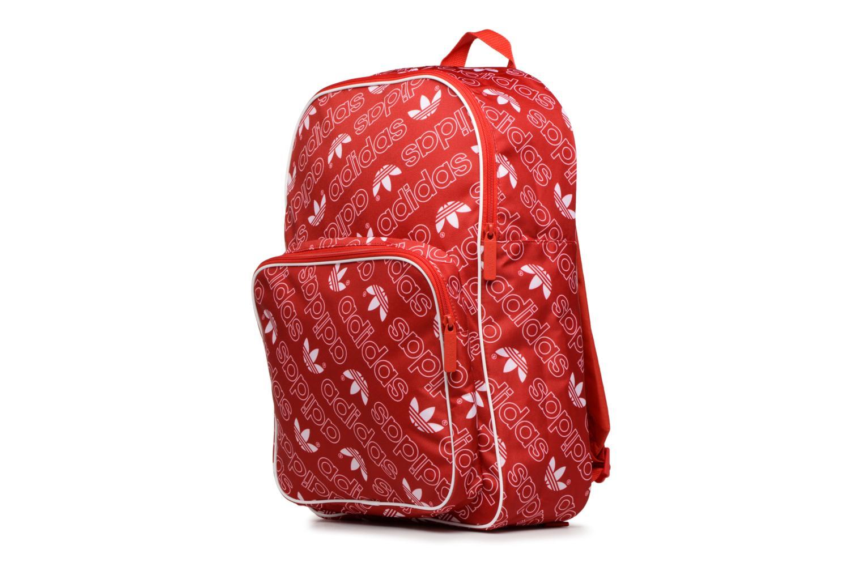 Zaini Adidas Originals BP CLASS AC GR Rosso modello indossato