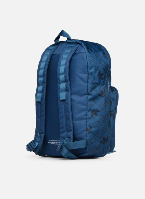 Rucksacks Adidas Originals BP CL M AC GR Blue view from the right