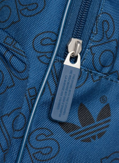 Rucksacks Adidas Originals BP CL M AC GR Blue view from the left