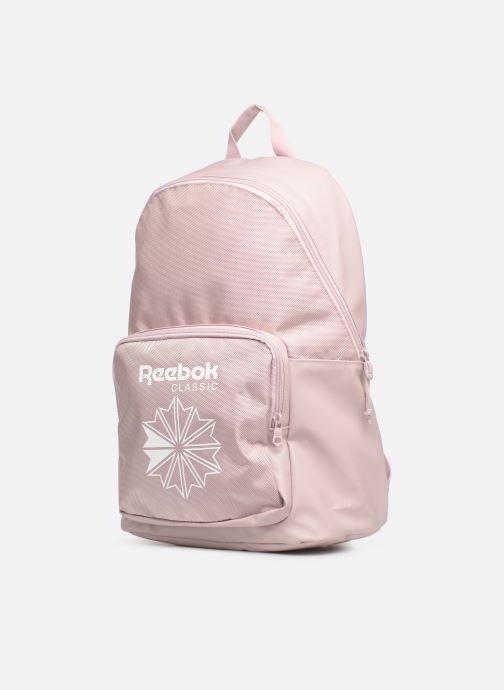Sacs à dos Reebok CL Core Backpack Rose vue portées chaussures
