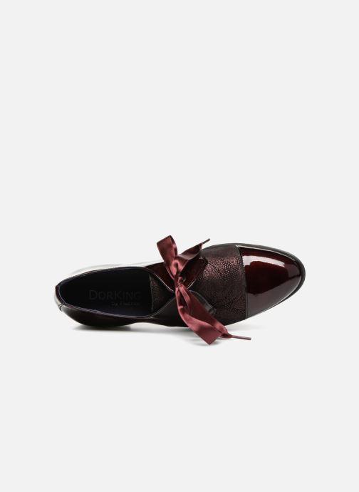 Chaussures à lacets Dorking Vesna 7631 Bordeaux vue gauche