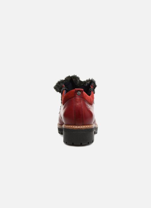 Chaussures à lacets Dorking Charco 7705 Rouge vue droite