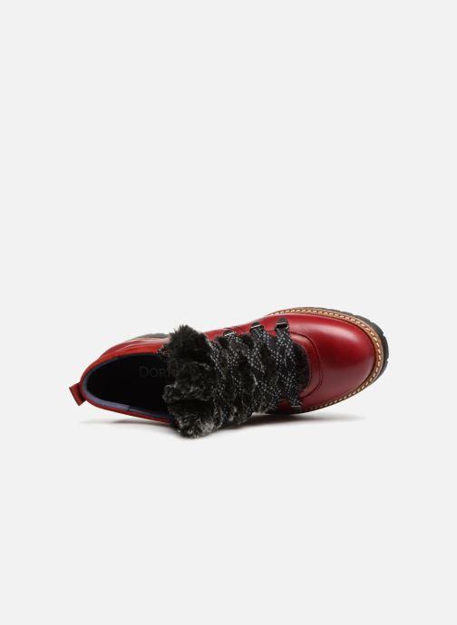 Chaussures à lacets Dorking Charco 7705 Rouge vue gauche