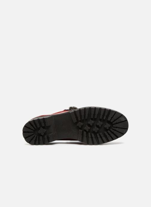 Chaussures à lacets Dorking Charco 7705 Rouge vue haut