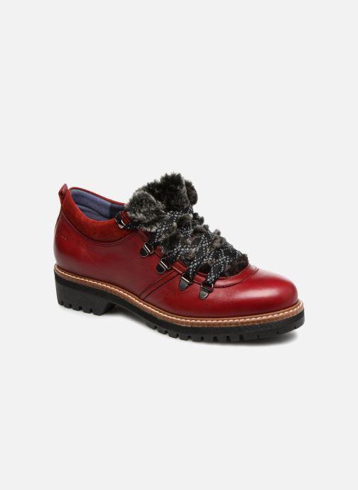 Chaussures à lacets Dorking Charco 7705 Rouge vue détail/paire