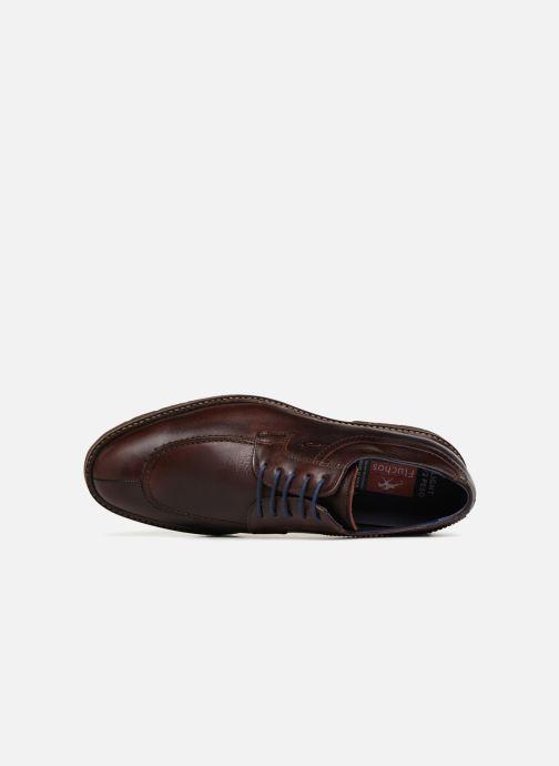 Zapatos con cordones Fluchos Cavalier F0045 Marrón vista lateral izquierda