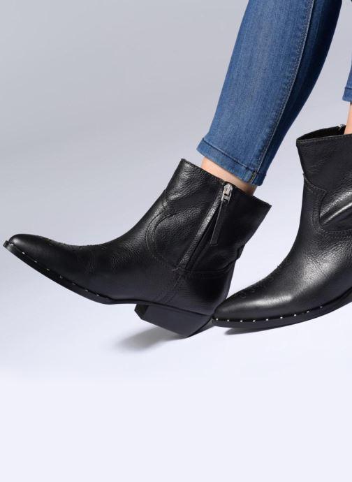 Bottines et boots Sam Edelman Ava Noir vue bas / vue portée sac