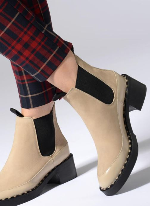 Ankle boots Another Project Indie Beige view from underneath / model view