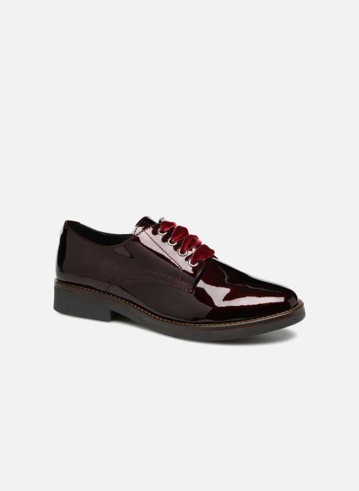 Snøresko Georgia Rose Gevelta Bordeaux detaljeret billede af skoene