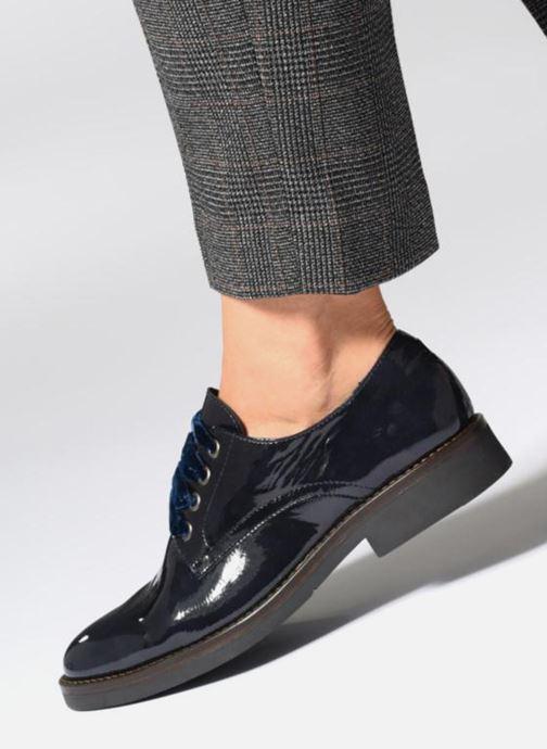 Zapatos con cordones Georgia Rose Gevelta Azul vista de abajo