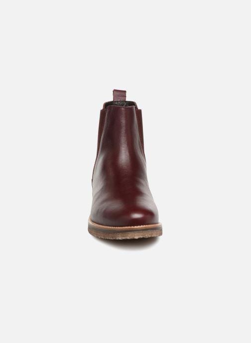 Bottines et boots Georgia Rose Acrepou Bordeaux vue portées chaussures