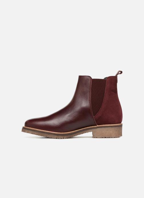 Bottines et boots Georgia Rose Acrepou Bordeaux vue face