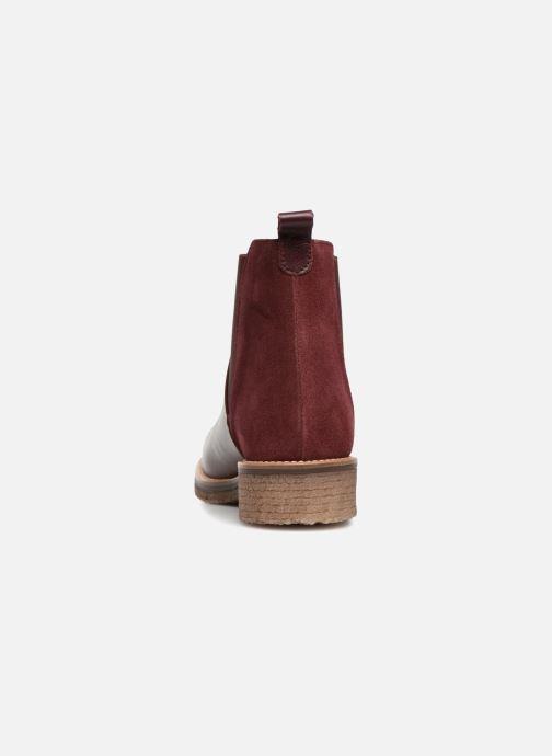 Bottines et boots Georgia Rose Acrepou Bordeaux vue droite
