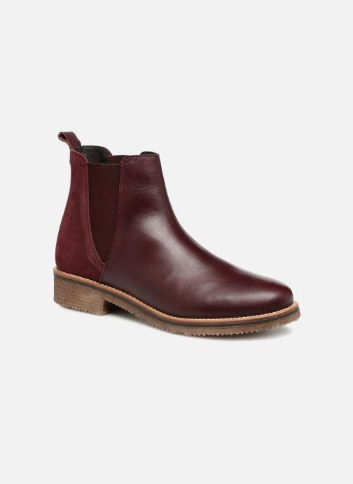 Bottines et boots Georgia Rose Acrepou Bordeaux vue détail/paire