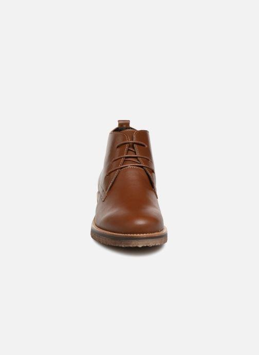 Bottines et boots Georgia Rose Awafle Marron vue portées chaussures