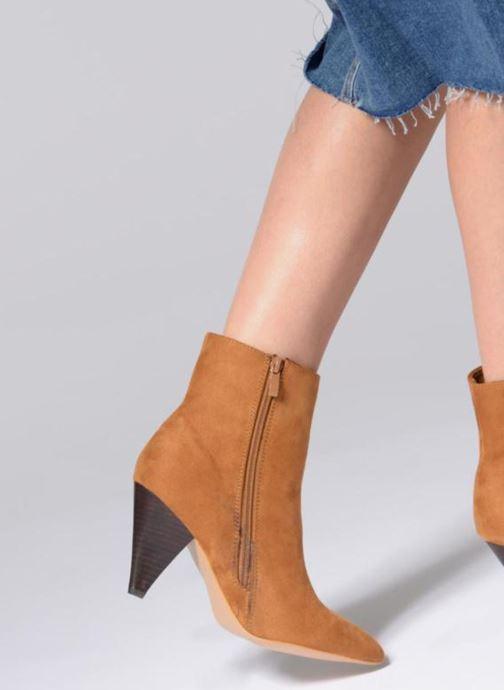 Stiefeletten & Boots I Love Shoes CONICA weinrot ansicht von unten / tasche getragen