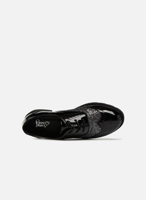 Zapatos con cordones I Love Shoes CABOLD Negro vista lateral izquierda