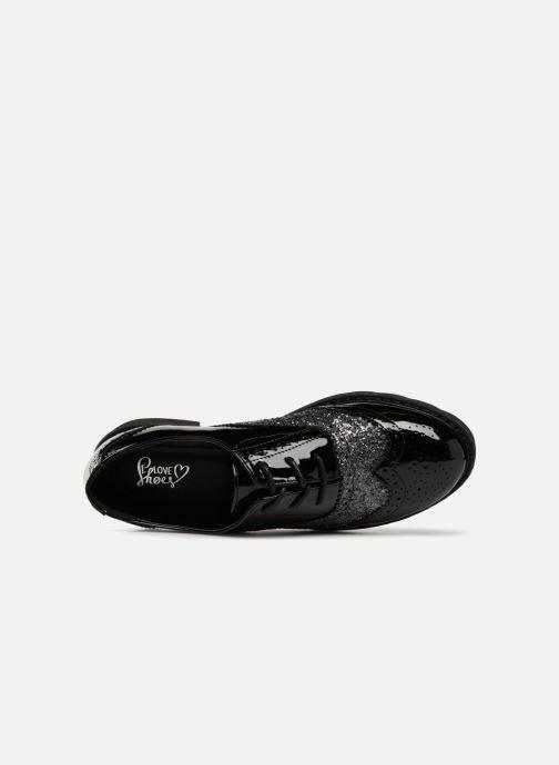 Scarpe con lacci I Love Shoes CABOLD Nero immagine sinistra
