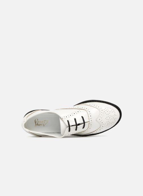 Zapatos con cordones I Love Shoes CABOLD Blanco vista lateral izquierda