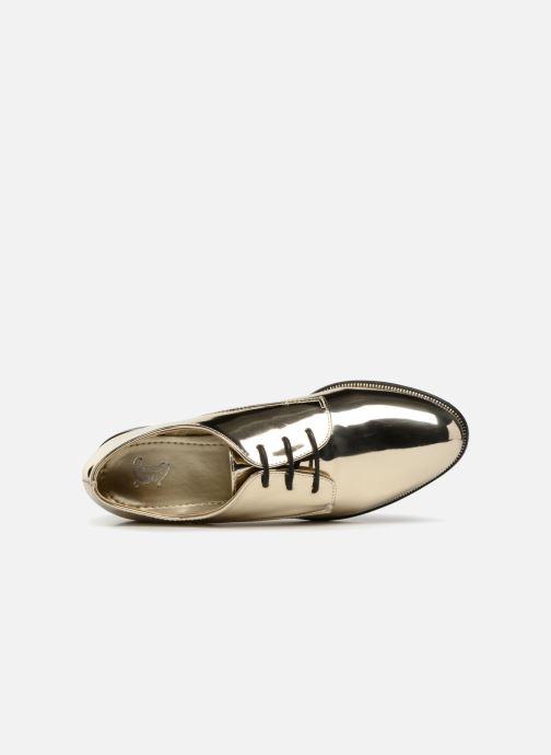 Zapatos con cordones I Love Shoes CLEMINA Oro y bronce vista lateral izquierda