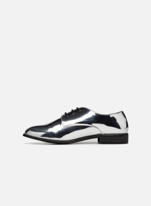 Schnürschuhe I Love Shoes CLEMINA silber ansicht von vorne