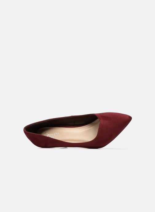 High heels I Love Shoes CADAME Burgundy view from the left