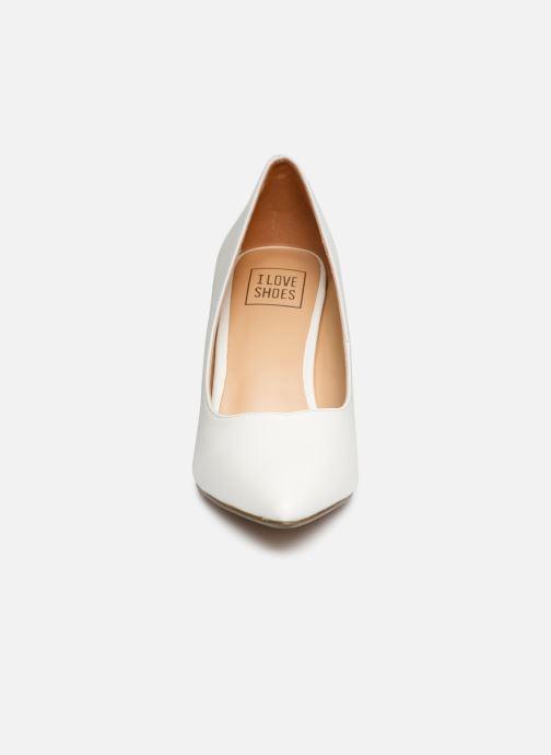 Escarpins I Love Shoes CADAME Blanc vue portées chaussures