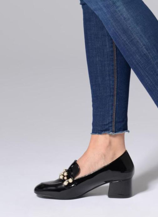 Loafers I Love Shoes CAPERLE Black view from underneath / model view
