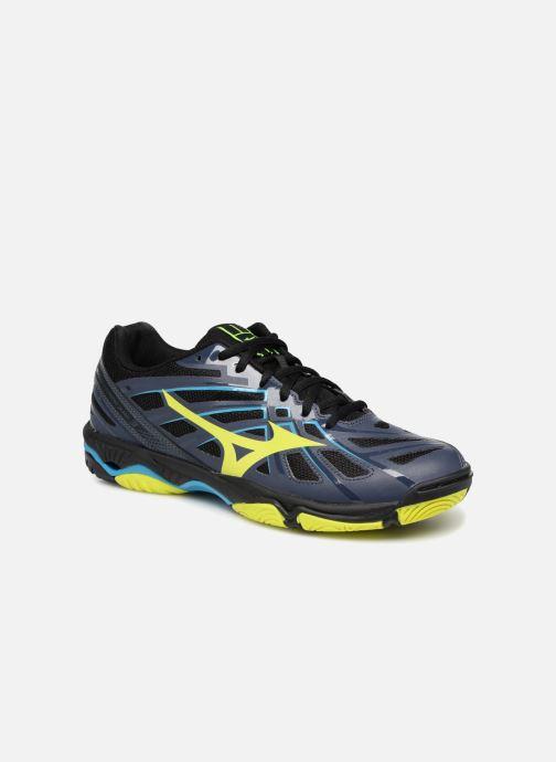 Sport shoes Mizuno Wave Hurricane 3 Black detailed view/ Pair view