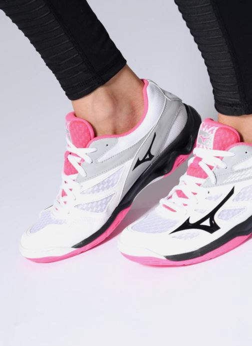 Sport shoes Mizuno F - THUNDER BLADE (W) White view from underneath / model view