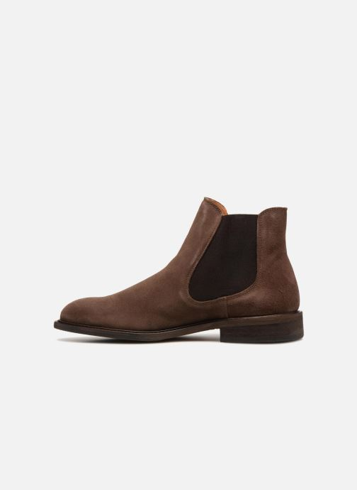 Bottines et boots Selected Homme SLHBAXTER CHELSEY SUEDE Marron vue face