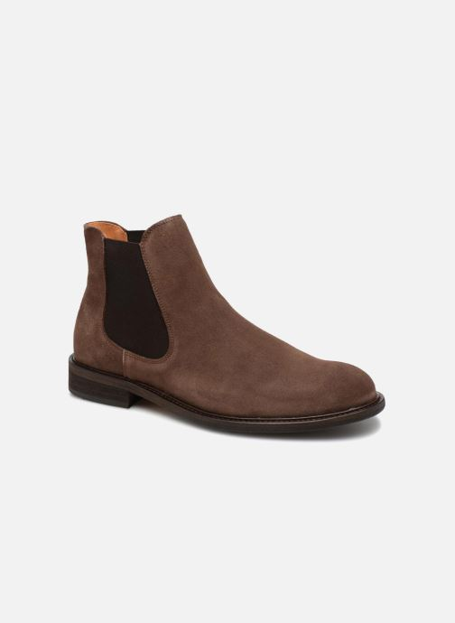 Bottines et boots Selected Homme SLHBAXTER CHELSEY SUEDE Marron vue détail/paire