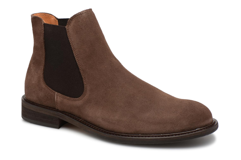 Bottines et boots Selected Homme SLHBAXTER CHELSEY SUEDE Marron vue détail/paire