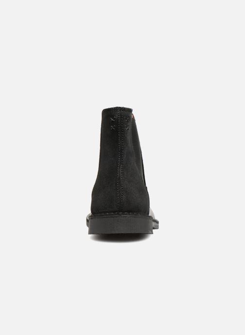 Bottines et boots Selected Homme SLHROYCE CHELSEY MIX BOOT Noir vue droite