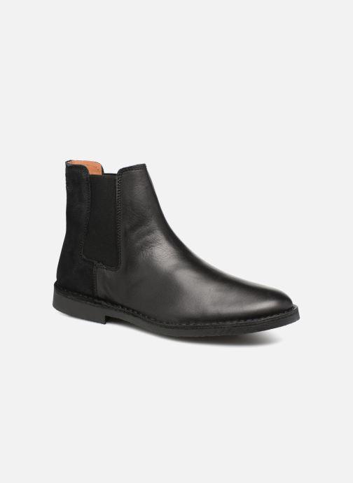 Bottines et boots Selected Homme SLHROYCE CHELSEY MIX BOOT Noir vue détail/paire