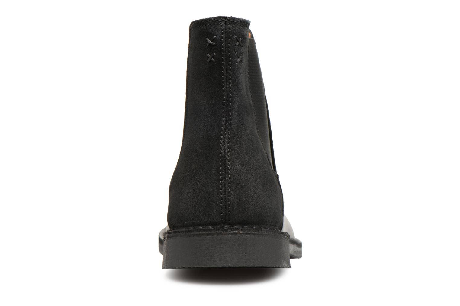 Cuir Boot Chelsey Mix Selected Noir Homme Slhroyce wilPZOXkuT