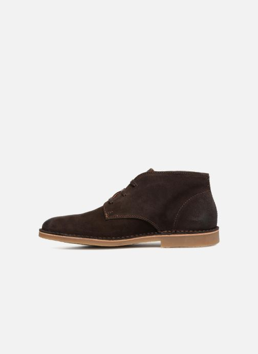 Bottines et boots Selected Homme SLH ROYCE SUEDE BOOT Marron vue face