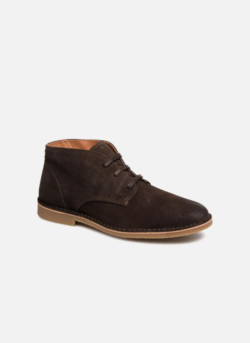 Bottines et boots Selected Homme SLH ROYCE SUEDE BOOT Marron vue détail/paire