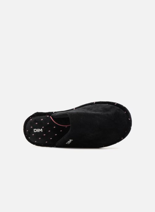 Slippers Dim D LIBAROS Black view from the left